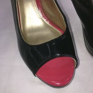 Christian Siriano Shoes - Christian Siriano black patent peep toe pump 7.5